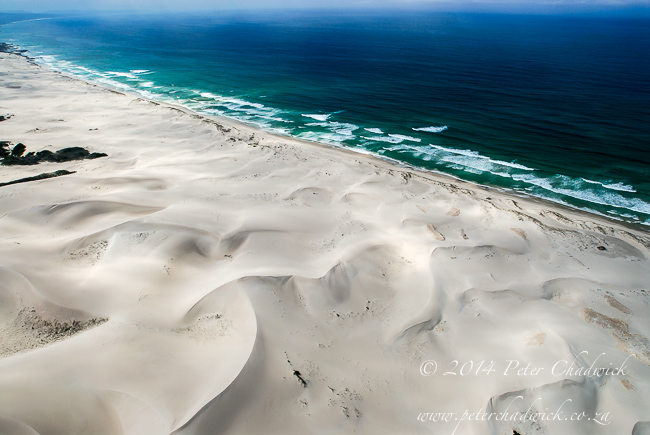 Aerial view of the De Hoop dunefield by wildlife and conservation photographer Peter Chadwick