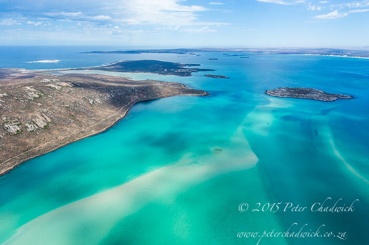 Aerial image of the Langebaan Lagoon_PeterChadwick_AfricanConservationPhotographer