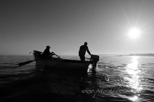 paternoster crayfishers going to sea at dawn by wildlife and conservation photographer Peter Chadwick