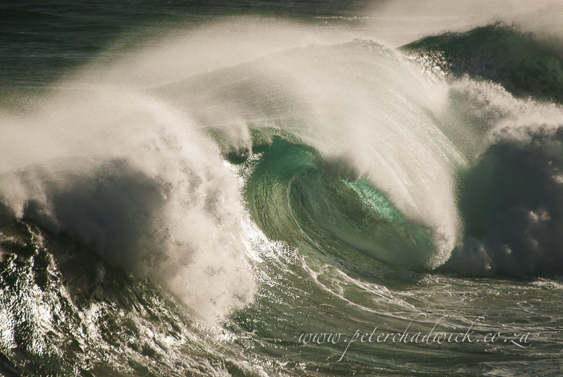 crashing wave by wildlife and conservation photographer Peter Chadwick