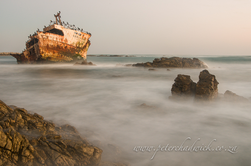 agulhas ship wreck by wildlife and conservation photographer Peter Chadwick