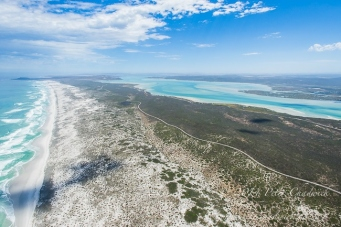 Aerial view of sixteen mile beach and langebaan lagoon by wildlife and conservation photographer Peter Chadwick.jpg